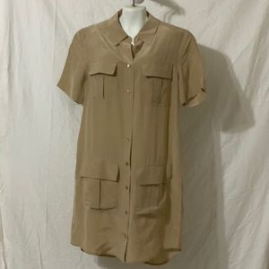 Tan multi pocket dress